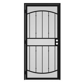 Gatehouse Gibraltar Black Steel Surface Mount Single Security Door (Common 30-in x  sc 1 st  Loweu0027s & Shop Security Doors at Lowes.com pezcame.com