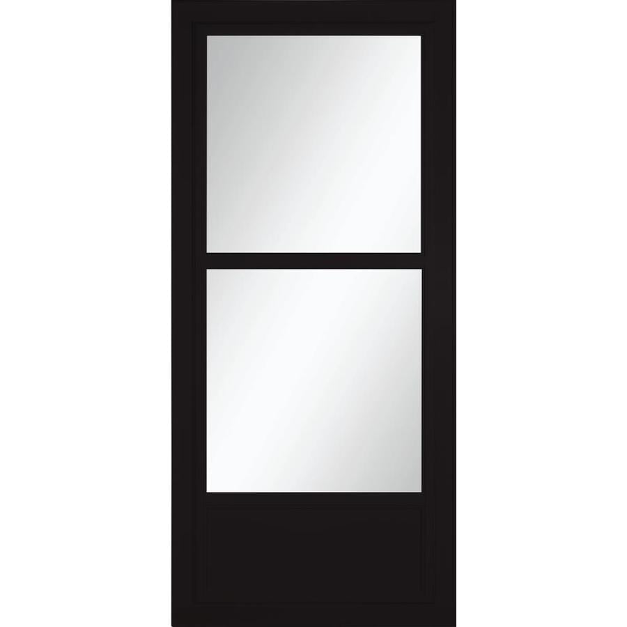 LARSON Tradewinds Selection Black Mid-View Aluminum Storm Door (Common: 32-in x 81-in; Actual: 31.75-in x 79.75-in)