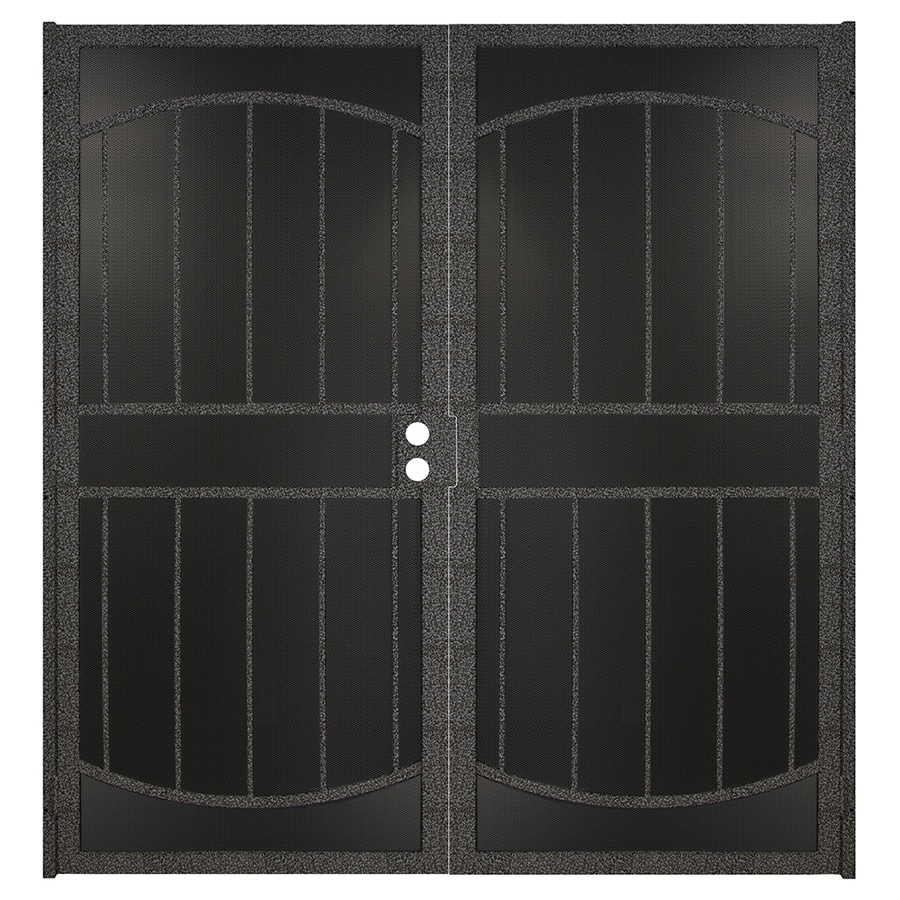 Gatehouse Gibraltar Max Silverado Steel Surface Mount Double Security Door (Common: 64-in x 81-in; Actual: 66.75-in x 81.75-in)