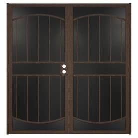 Gatehouse Gibraltar Max Bronze Steel Surface Mount Double Security Door  (Common: 72 In