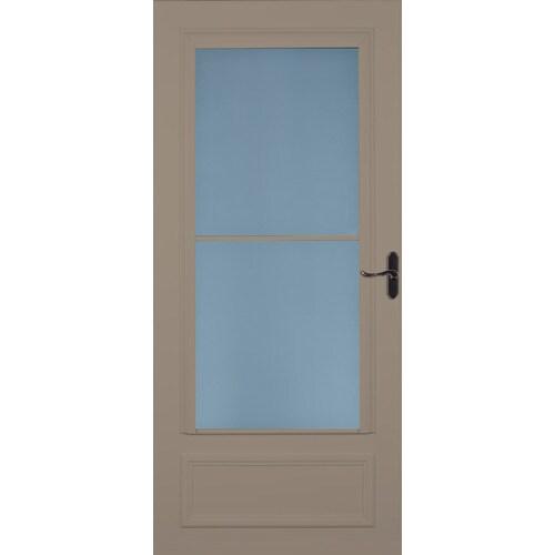 Larson Savannah Sandstone Mid View Wood Core Storm Door