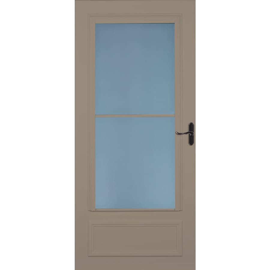 LARSON Savannah Sandstone Mid-View Wood Core Storm Door with Retractable Screen (Common: 36-in x 81-in; Actual: 35.75-in x 79.875-in)