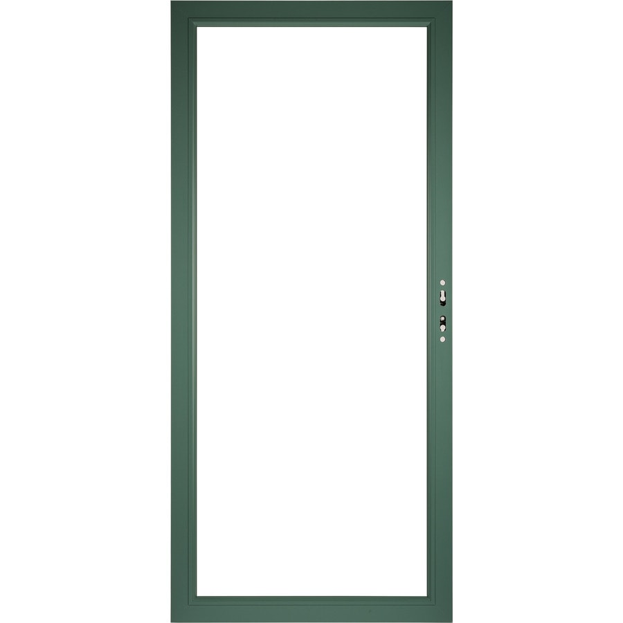 shop pella select aluminum 36 in x 81 in hemlock storm