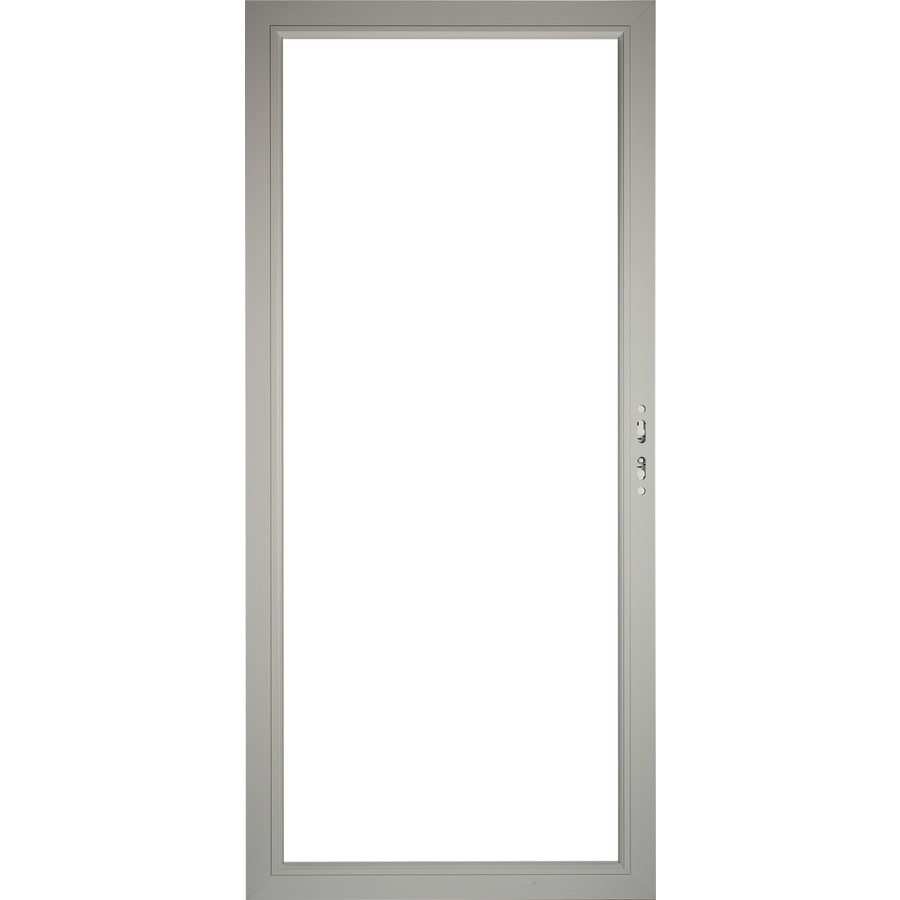 Pella Select Aluminum 36-in x 81-in Morning Sky Gray Storm Door Frame