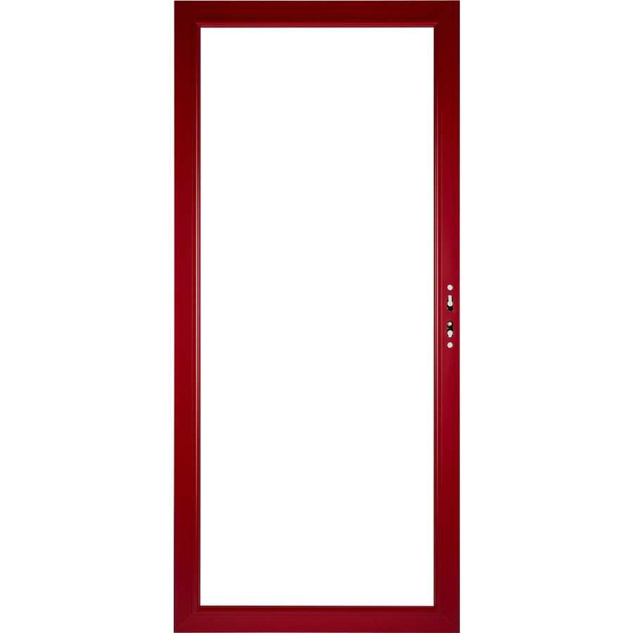 Pella Select Aluminum 36-in x 81-in Real Red Storm Door Frame