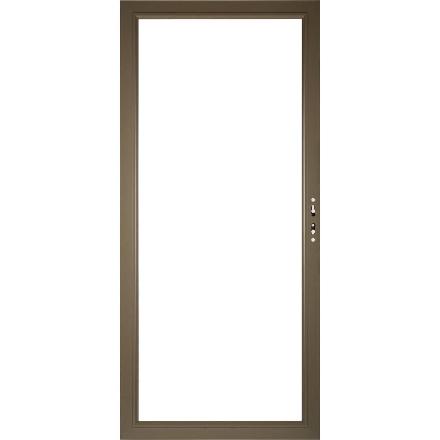 Pella Select Aluminum 36-in x 81-in Portobello Storm Door Frame