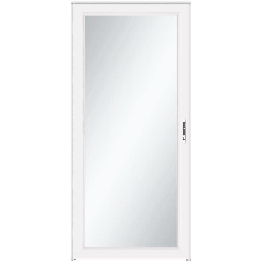 Shop LARSON Signature Classic White Full View Aluminum Standard Storm Door C