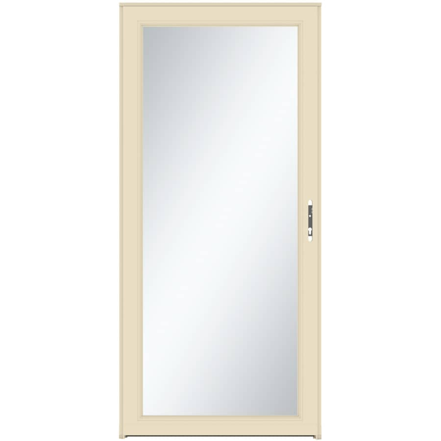 Shop larson signature classic almond full view aluminum for 30 inch storm door