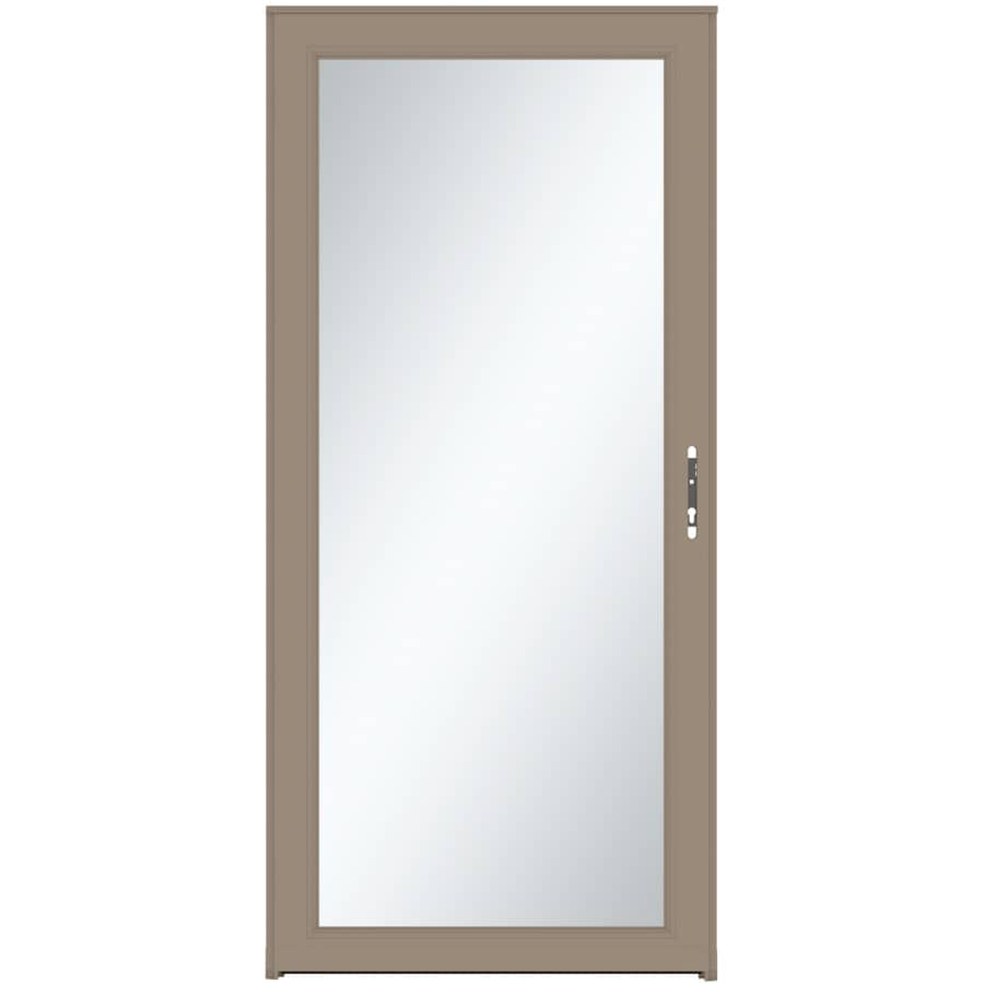 LARSON Signature Selection Sandstone Full-View Tempered Glass Fully Interchangeable Aluminum Storm Door (Common: 32-in x 81-in; Actual: 31.75-in x 79.75-in)