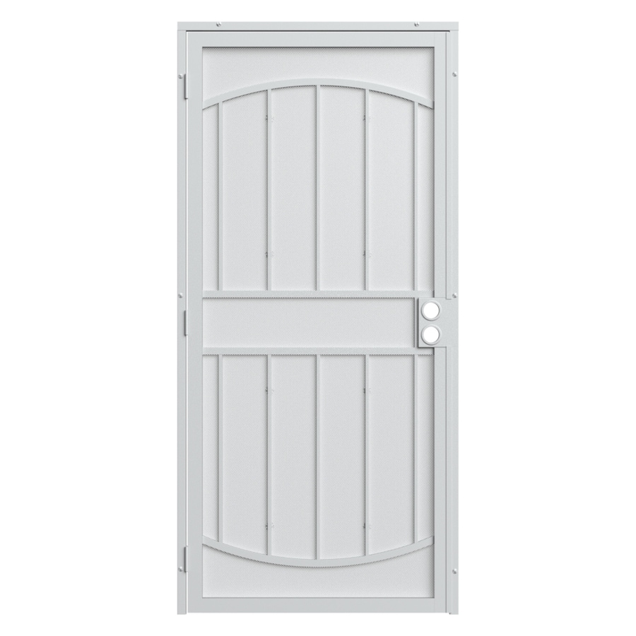 Gatehouse Gibraltar Max White Steel Surface Mount Single Security Door Common 36 In X 81 Actual 39 75