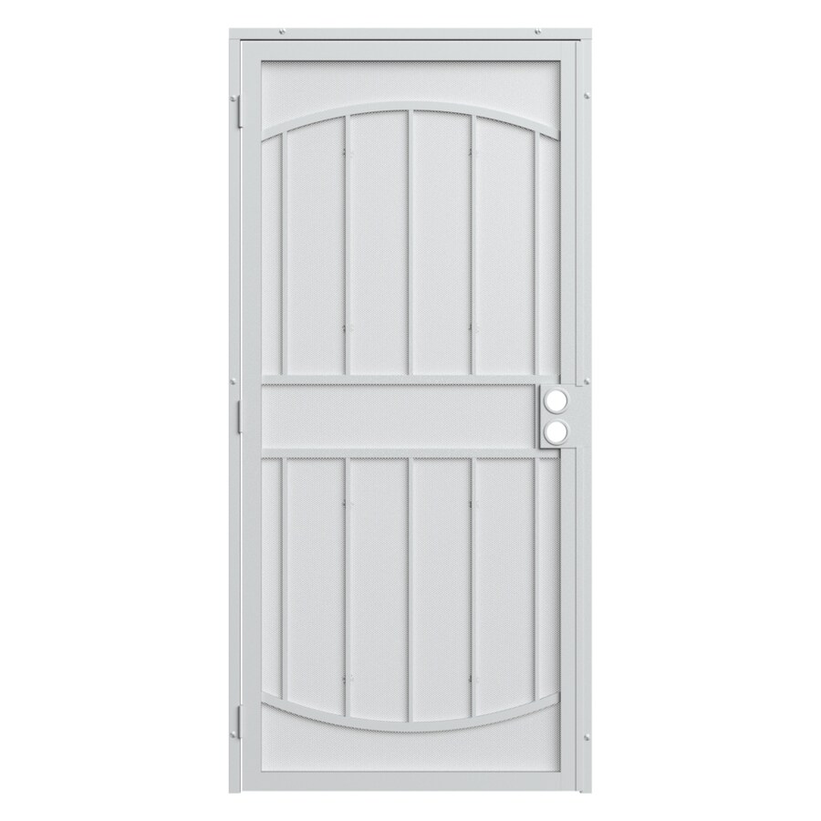 Gatehouse Gibraltar Max White Steel Surface Mount Single Security Door (Common: 36-in x 81-in; Actual: 39-in x 81.75-in)