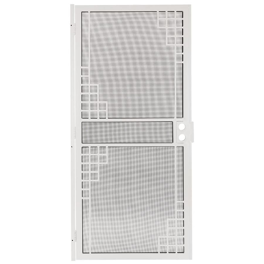 Gatehouse Monterey White Steel Surface Mount Single Security Door (Common: 36-in x 81-in; Actual: 39-in x 81.75-in)