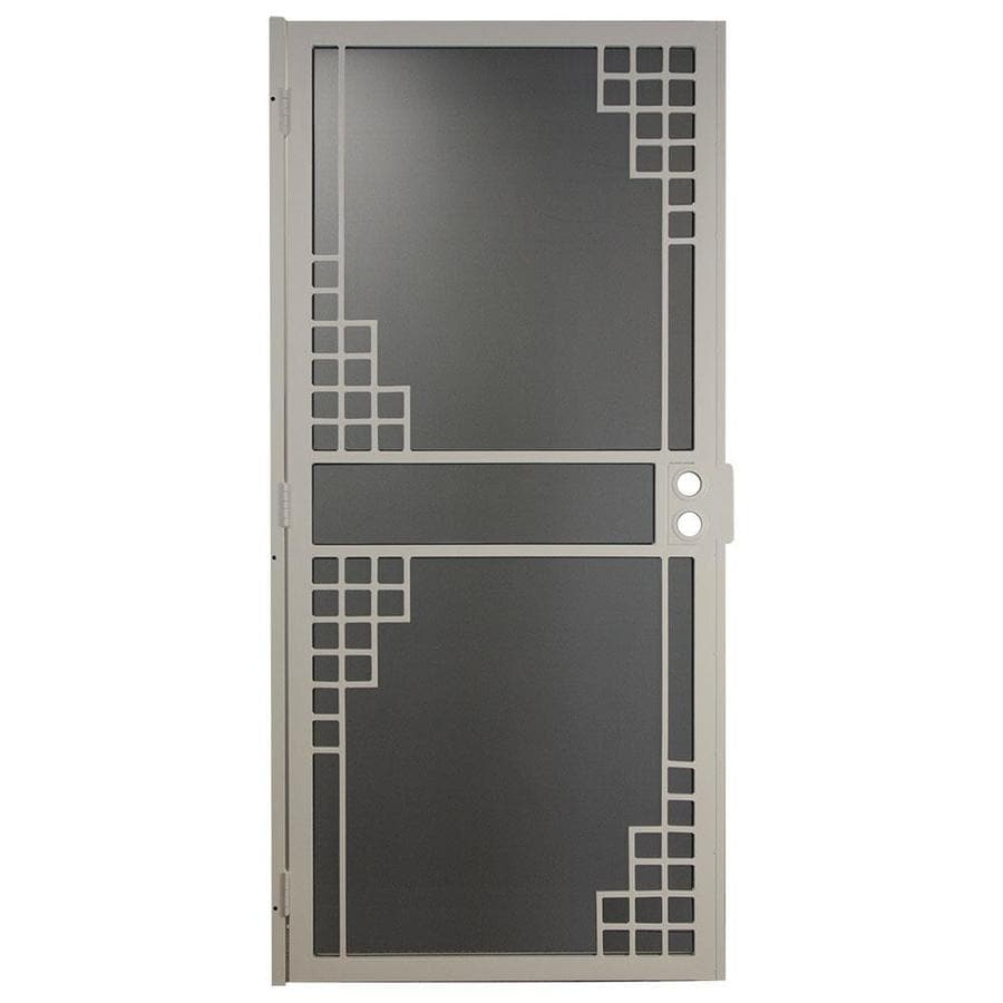 Gatehouse Monterey Almond Steel Surface Mount Single Security Door (Common: 36-in x 81-in; Actual: 39-in x 81.75-in)