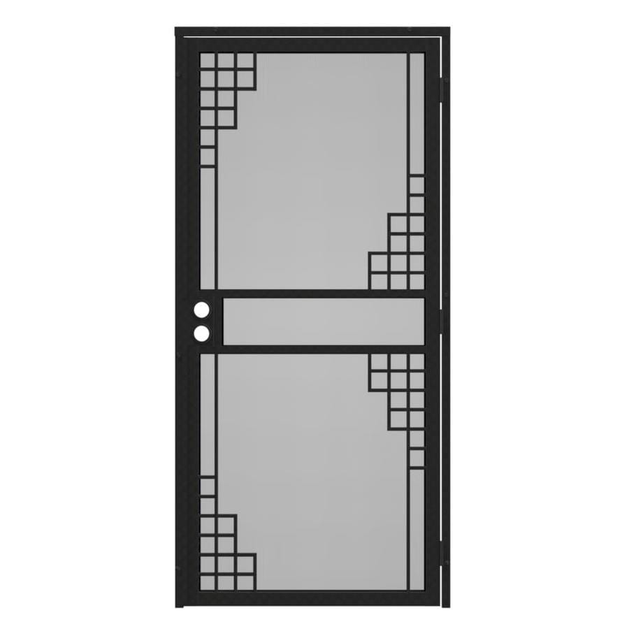 Gatehouse Monterey Silverado Steel Surface Mount Single Security Door (Common: 32-in x 81-in; Actual: 35-in x 81.75-in)