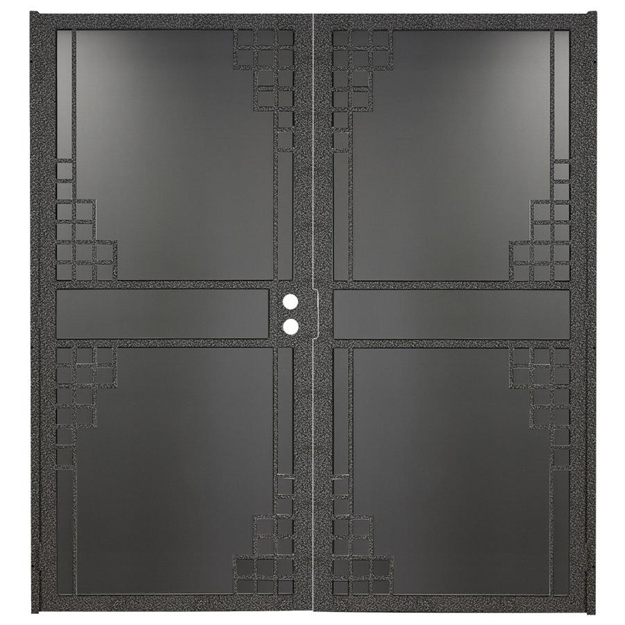 Gatehouse Monterey Silverado Steel Surface Mount Double Security Door (Common: 64-in x 81-in; Actual: 66.75-in x 81.75-in)