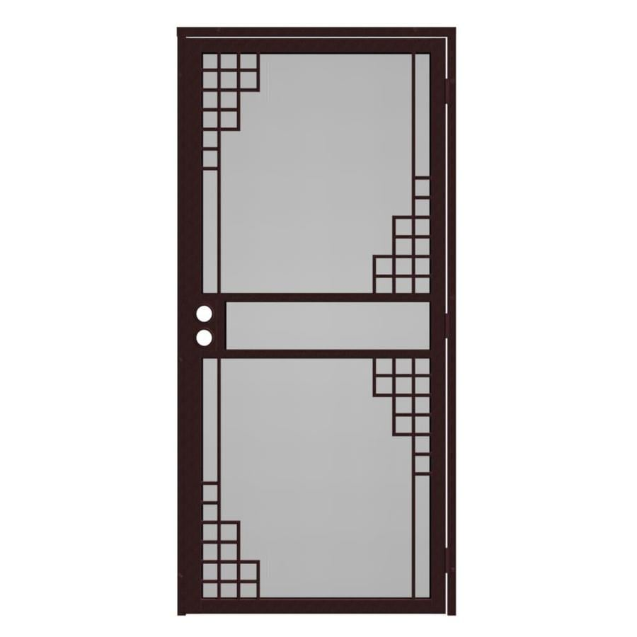Gatehouse Monterey Bronze Steel Surface Mount Single Security Door Common 32 In X 81 Actual 35 75