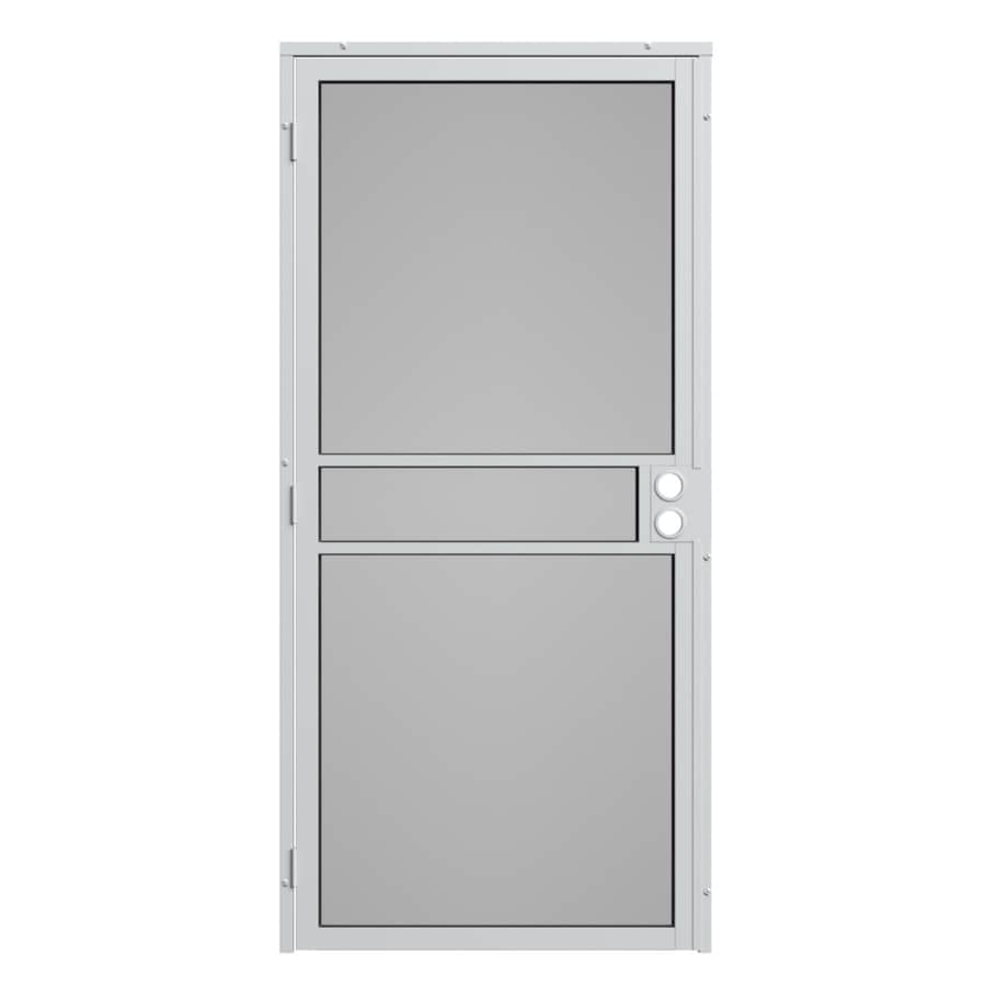 Gatehouse Pasadena White Steel Surface Mount Single Security Door (Common: 32-in x 81-in; Actual: 35-in x 81.75-in)