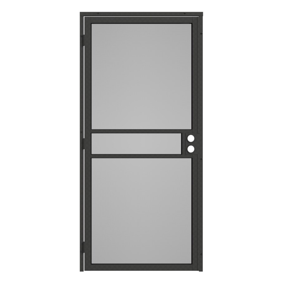 Gatehouse Pasadena Silverado Steel Surface Mount Single Security Door (Common: 36-in x 81-in; Actual: 39-in x 81.75-in)