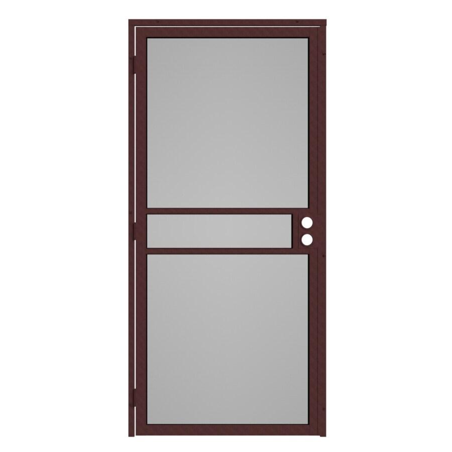 Gatehouse Pasadena Bronze Steel Surface Mount Single Security Door (Common: 32-in x 81-in; Actual: 35-in x 81.75-in)