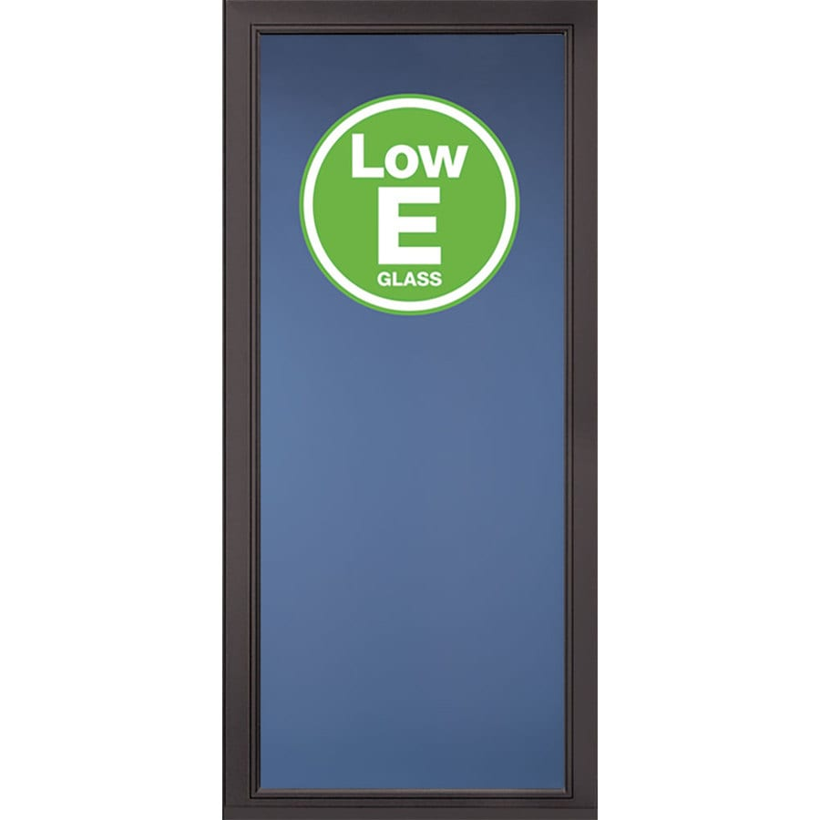 Shop Pella Select Brown Full View Aluminum Storm Door Common 32 In