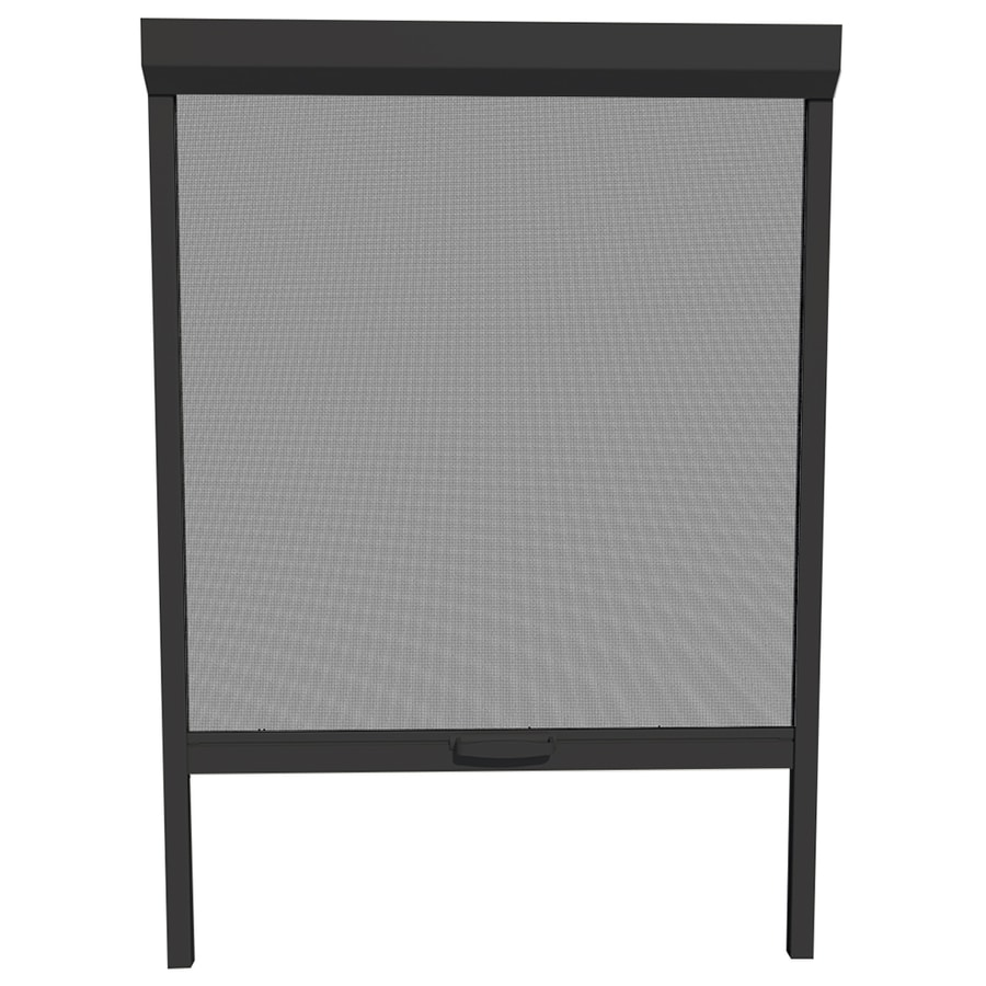 Attractive LARSON Naturevue Black Aluminum Retractable Curtain Screen Door (Common:  26 In X 72