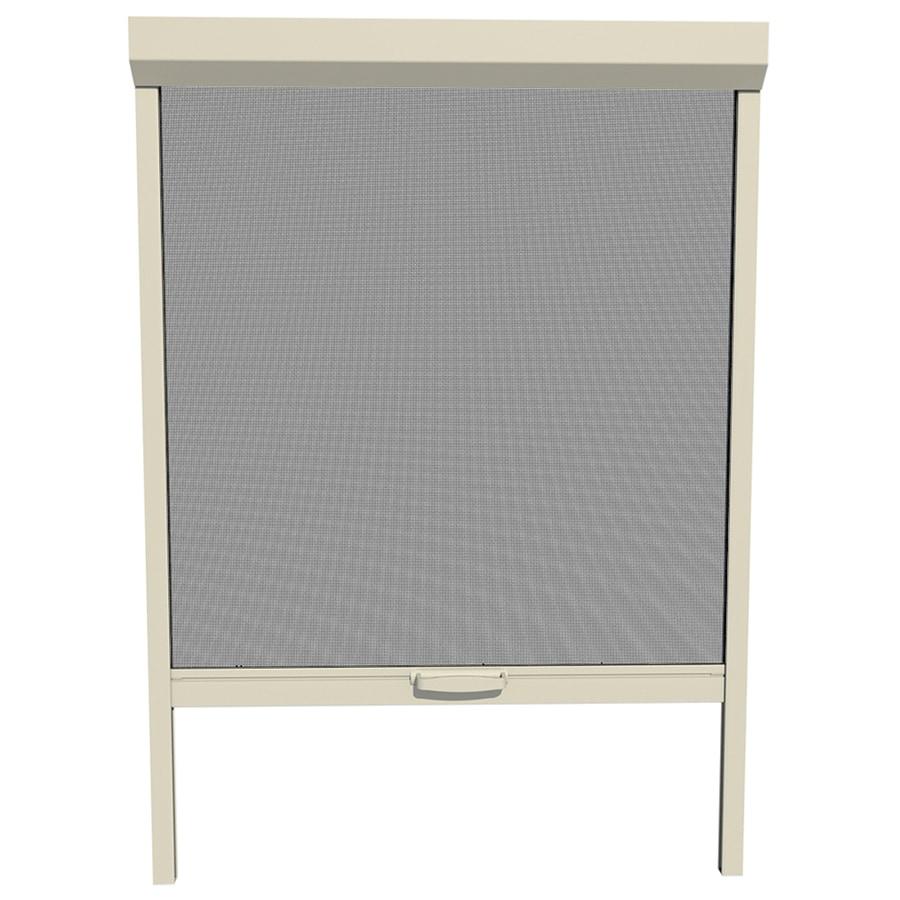 LARSON NatureVue Almond Aluminum Retractable Curtain Screen Door (Common: 48-in x 72-in; Actual: 48-in x 72-in)