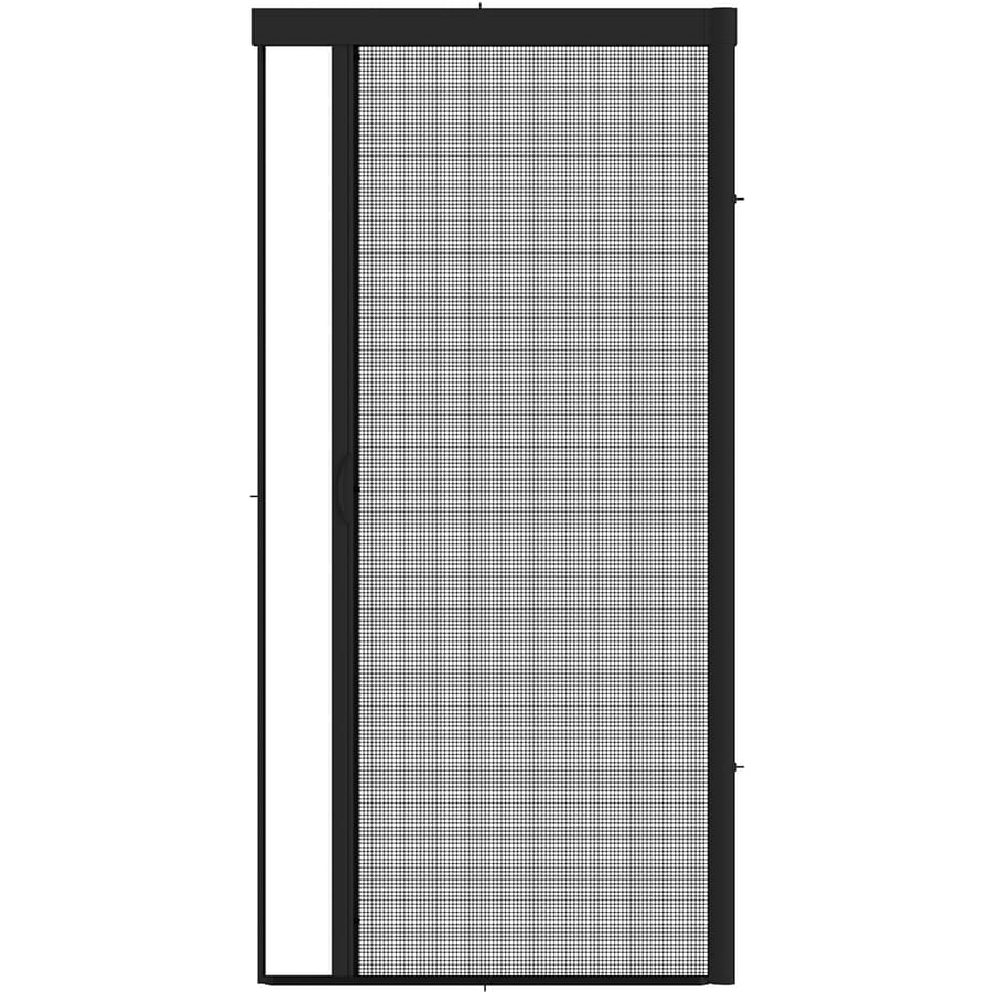 Larson Escape 100 Black Aluminum Retractable Screen Door Common 36 In X 81
