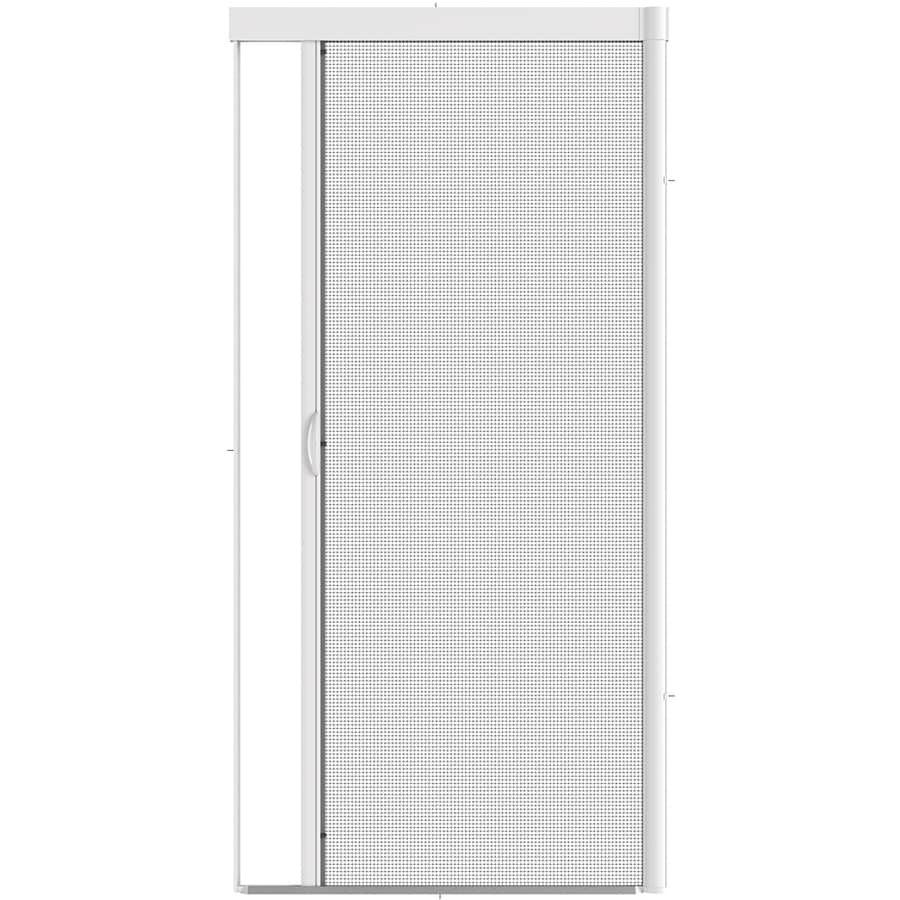 Shop larson escape white aluminum retractable screen door for Retractable screen door