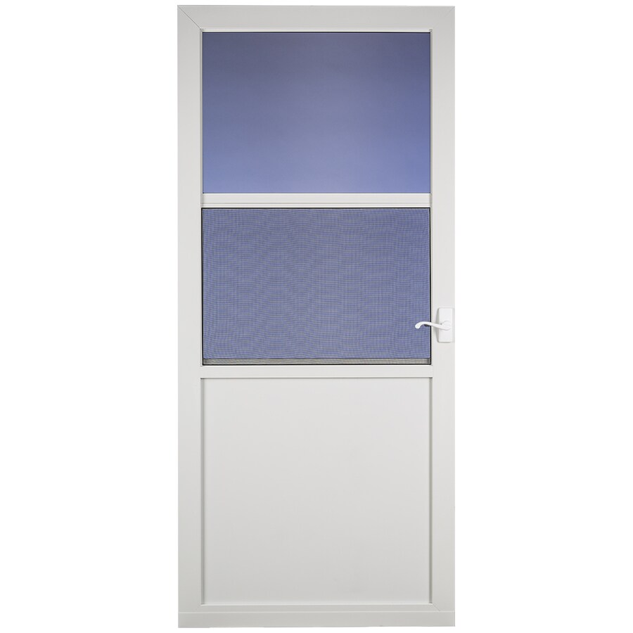 LARSON Northport White High-View Aluminum Self-Storing Storm Door (Common: 36-in x 81-in; Actual: 35.75-in x 79.75-in)