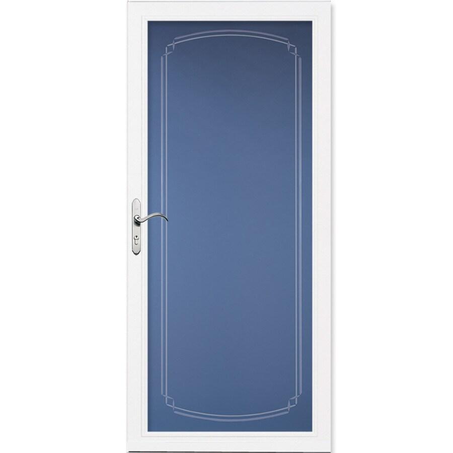 Pella Select Full-View Tempered Glass Storm Door (Common: 36-in x 81-in; Actual: 35.75-in x 79.875-in)