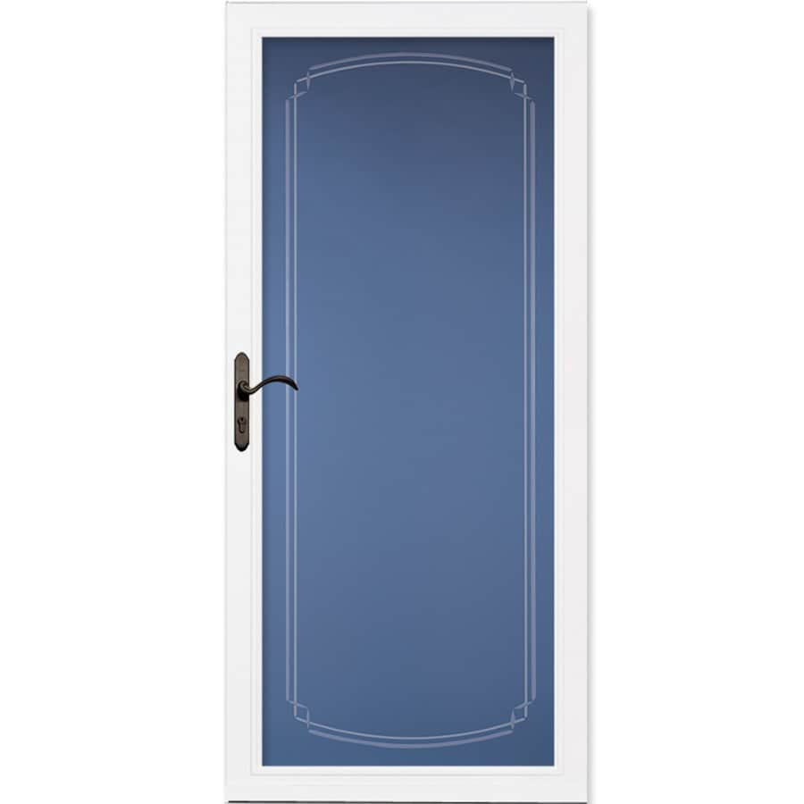 Pella Select White Full-View Aluminum Storm Door (Common: 36-in x 81-in; Actual: 35.75-in x 79.875-in)