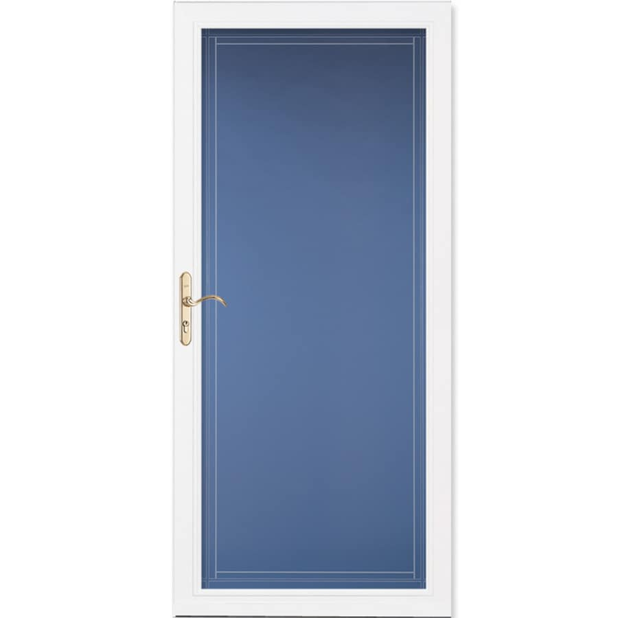 Pella Select White Full-View Aluminum Standard Storm Door  (Common: 36-in x 81-in; Actual: 35.75-in x 79.875-in)