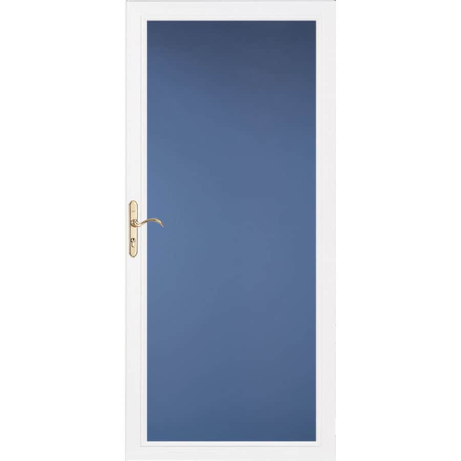 Pella Select Low-E White Full-View Aluminum Standard Storm Door (Common: 36-in x 81-in; Actual: 35.75-in x 79.875-in)