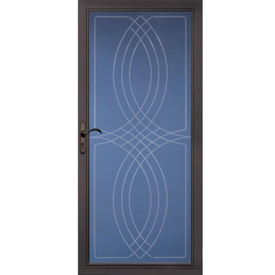 Pella Select Brown Full View Aluminum Storm Door Common