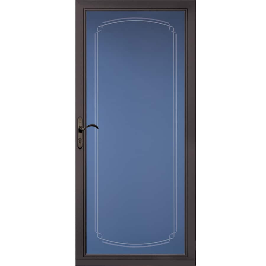 Pella Select Brown Full-View Aluminum Standard Storm Door  (Common: 36-in x 81-in; Actual: 35.75-in x 79.875-in)