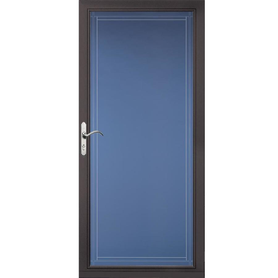Pella Select Brown Full-View Aluminum Standard Storm Door (Common: 36-in x 81-in; Actual: 35.75-in x 79.875-in)