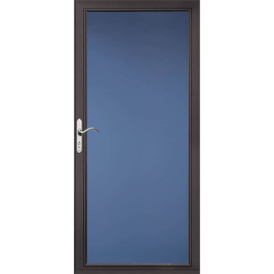 Pella Select Low-et Brown Full-View Aluminum Standard Storm Door (Common: 36-in x 81-in; Actual: 35.75-in x 79.875-in)