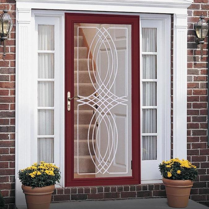 Pella Select Poplar White Full-view Aluminum Storm Door