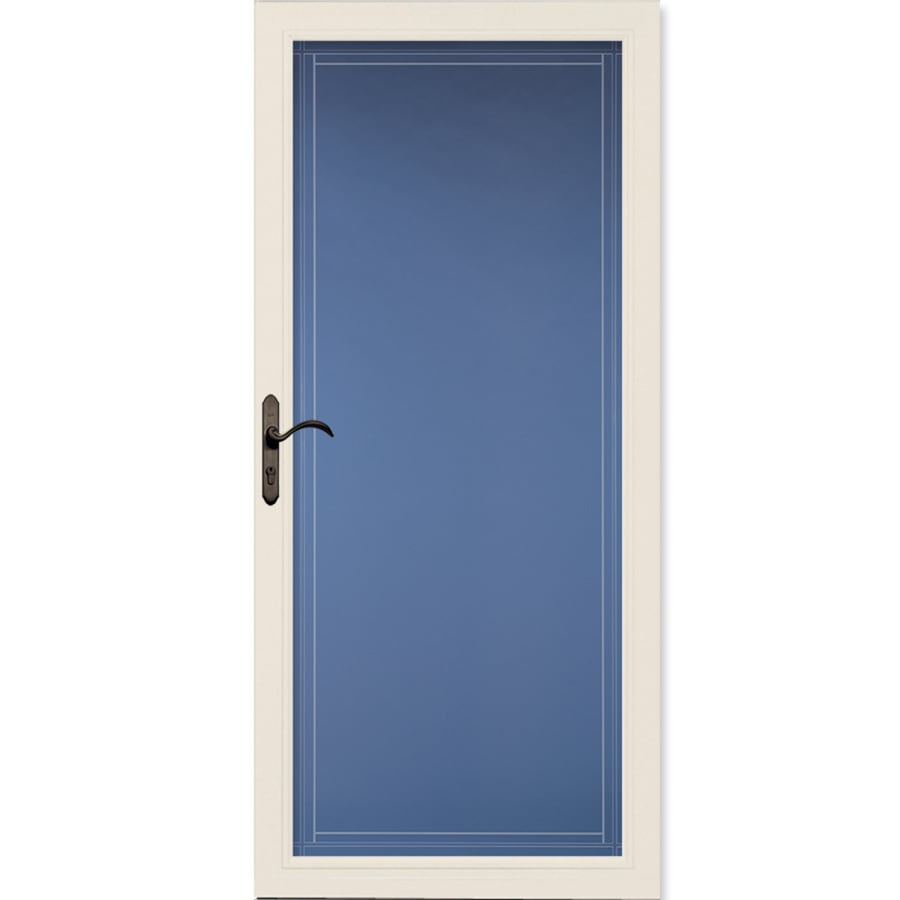 Pella Select Poplar White Full-View Aluminum Standard Storm Door (Common: 36-in x 81-in; Actual: 35.75-in x 79.875-in)