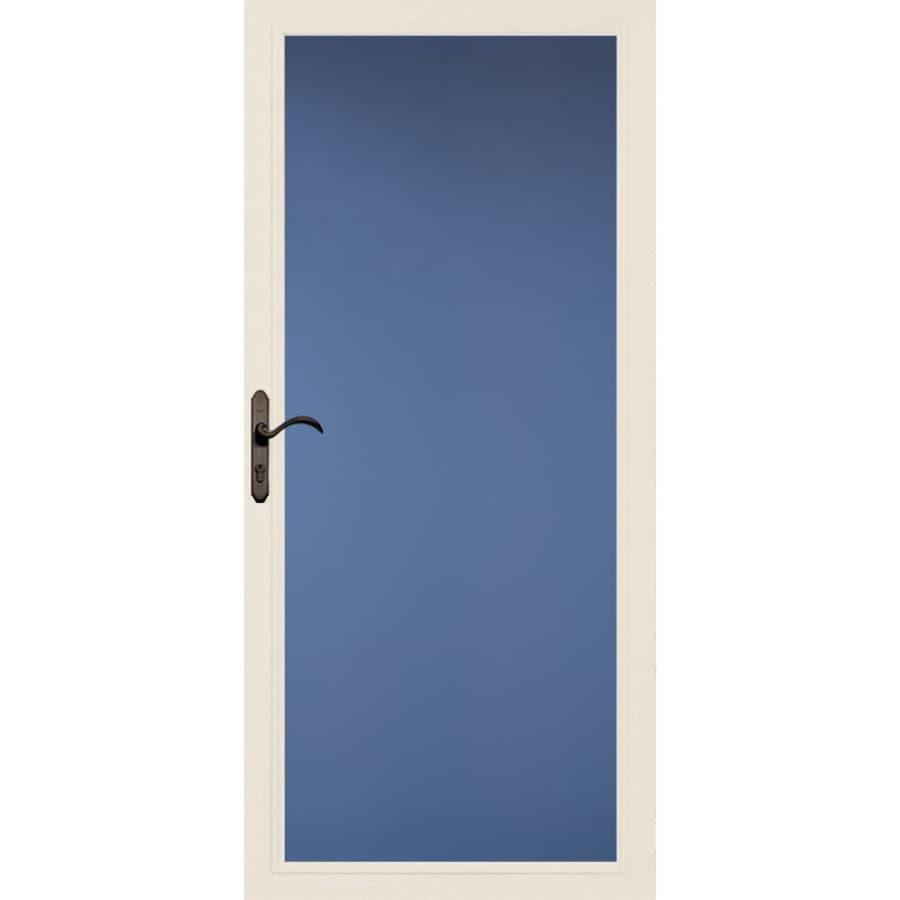 Pella Select Low-E Poplar White Full-View Aluminum Standard Storm Door (Common: 36-in x 81-in; Actual: 35.75-in x 79.875-in)