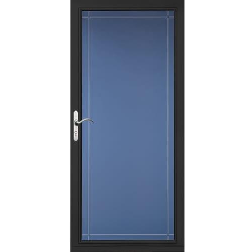 Pella Select 36 In X 81 In Black Full View Aluminum Storm Door In The Storm Doors Department At Lowes Com