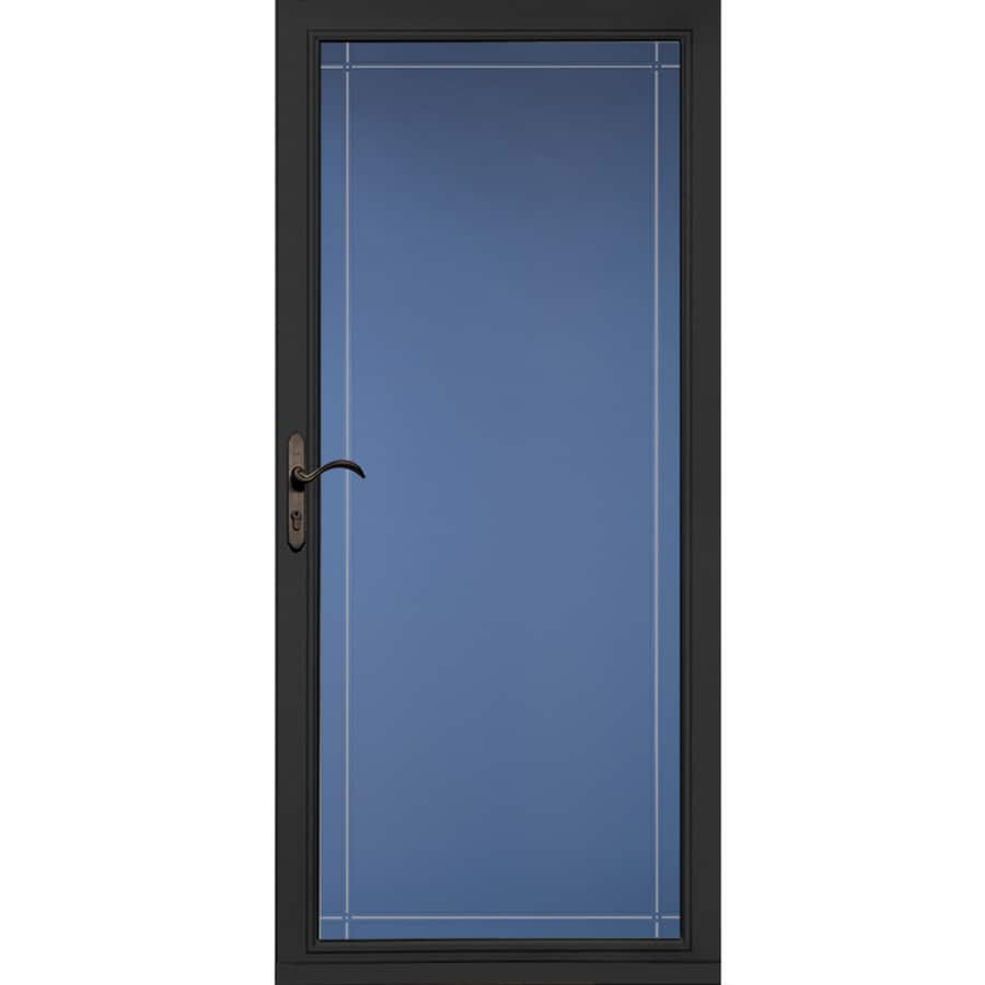 Pella Select Black Full-View Aluminum Standard Storm Door (Common: 36-in x 81-in; Actual: 35.75-in x 79.875-in)