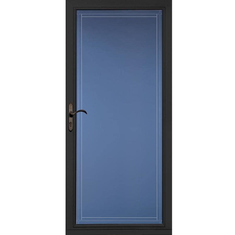 Pella Select Black Full-View Aluminum Standard Storm Door  (Common: 36-in x 81-in; Actual: 35.75-in x 79.875-in)
