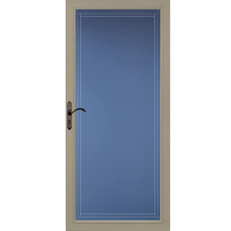 Pella Select Putty Full-View Aluminum Standard Storm Door (Common: 36-in x 81-in; Actual: 35.75-in x 79.875-in)