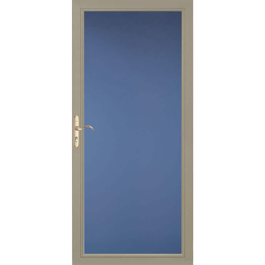 Pella Select Low-E Putty Full-View Aluminum Standard Storm Door (Common: 36-in x 81-in; Actual: 35.75-in x 79.875-in)