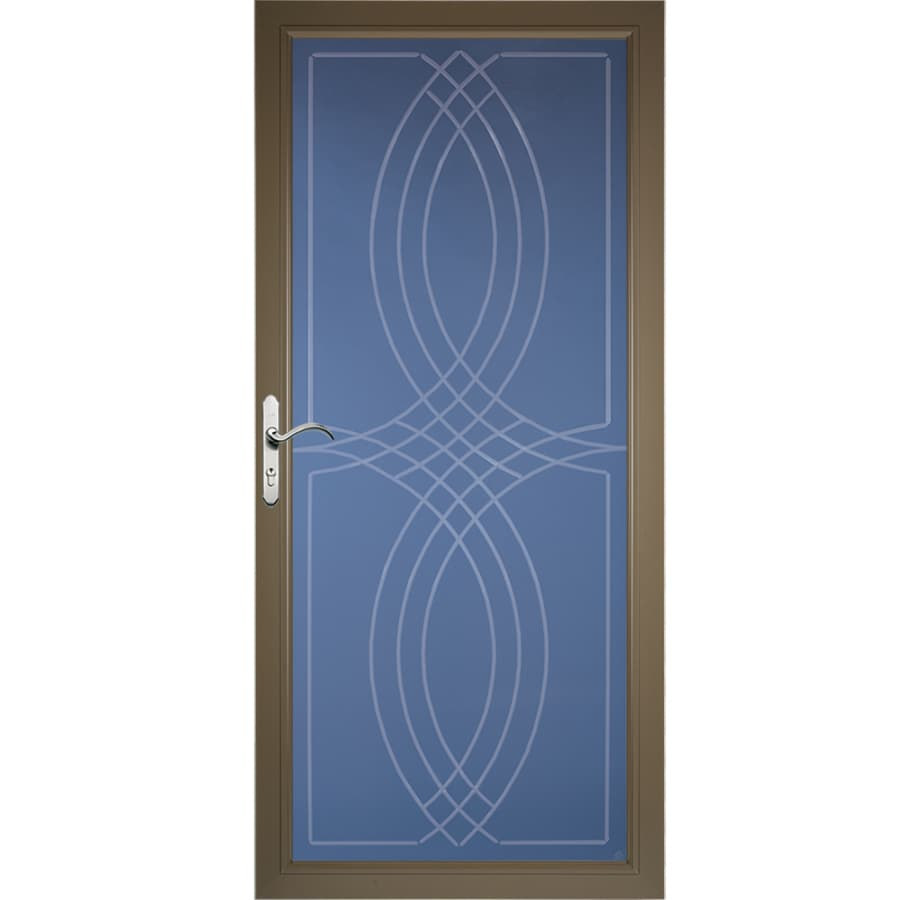 Pella Select Portobello Full-View Aluminum Standard Storm Door (Common: 36-in x 81-in; Actual: 35.75-in x 79.875-in)