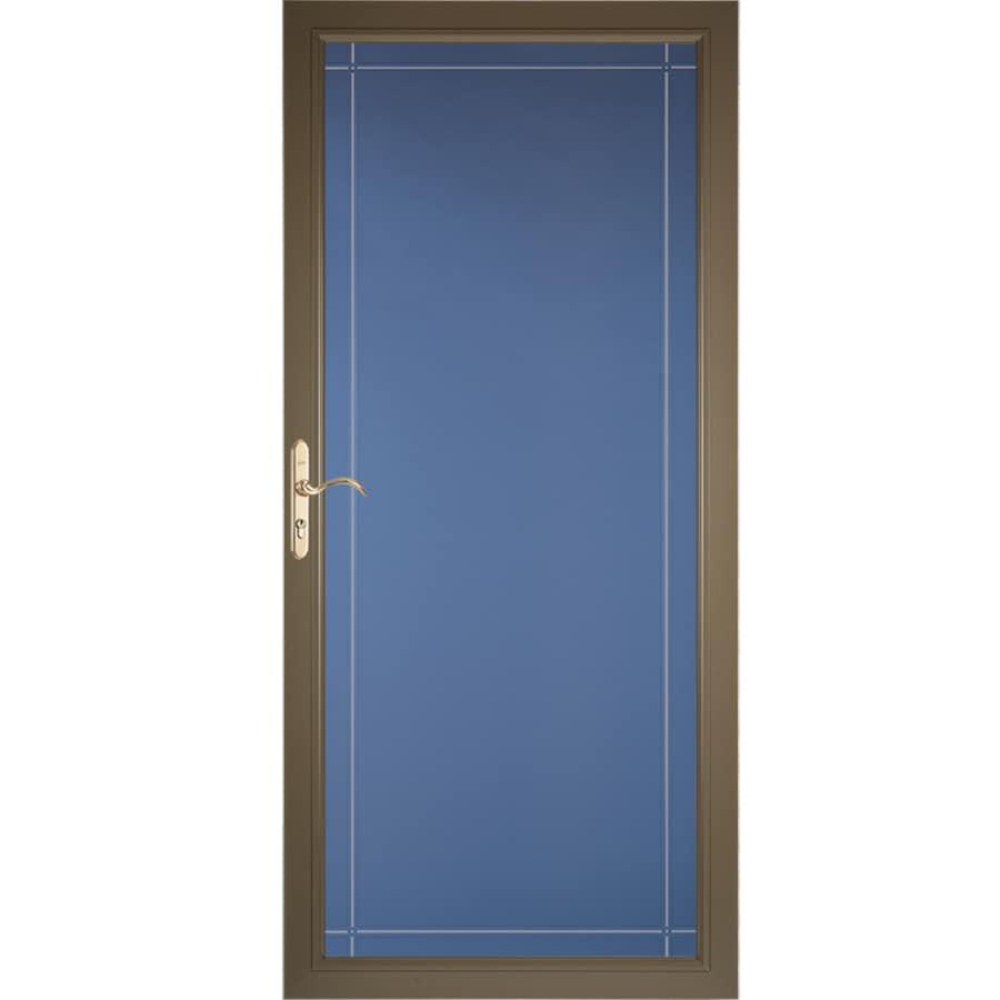 Pella Select Portobello Full-View Aluminum Standard Storm Door (Common: 36-in x 81-in; Actual: 35.75-in x 79.875-in)