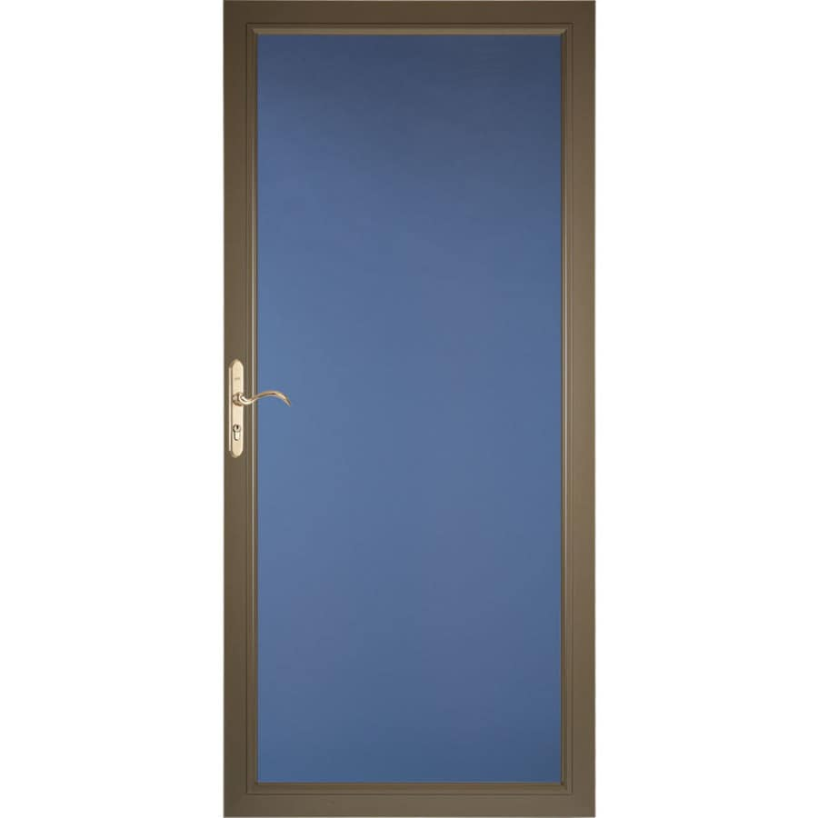 Pella Select Low-E Portobello Full-View Aluminum Standard Storm Door (Common: 36-in x 81-in; Actual: 35.75-in x 79.875-in)