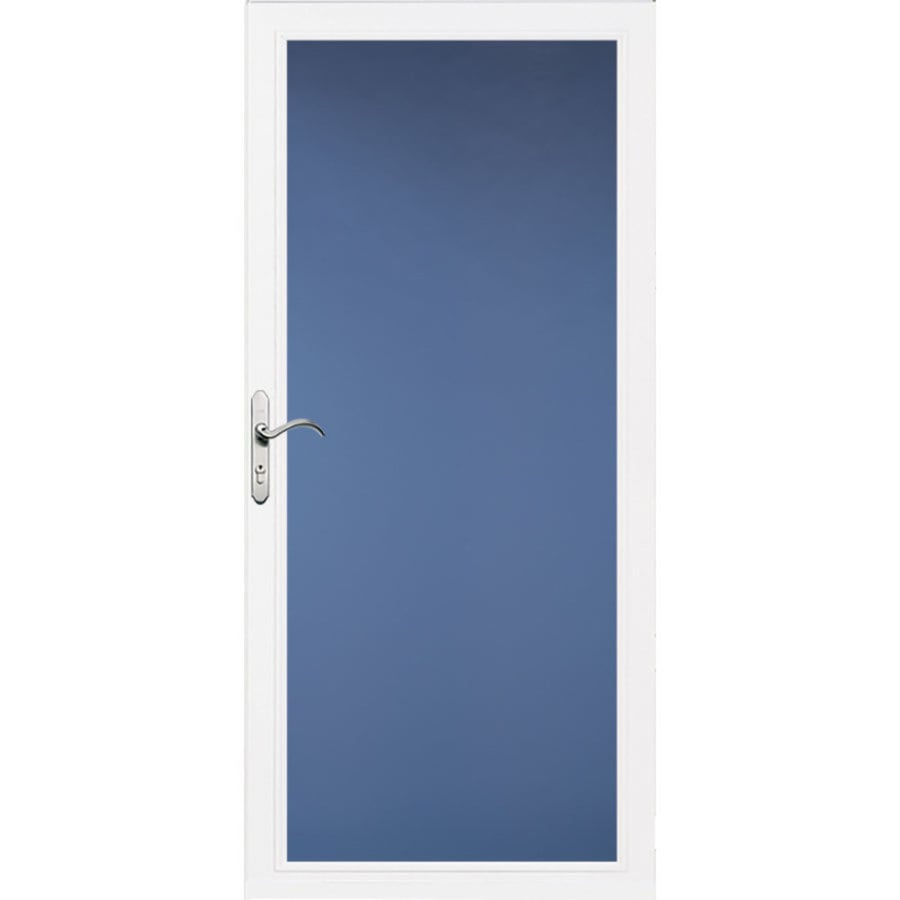 Pella Select Low-E White Full-View Aluminum Standard Storm Door (Common: 32-in x 81-in; Actual: 31.75-in x 79.875-in)