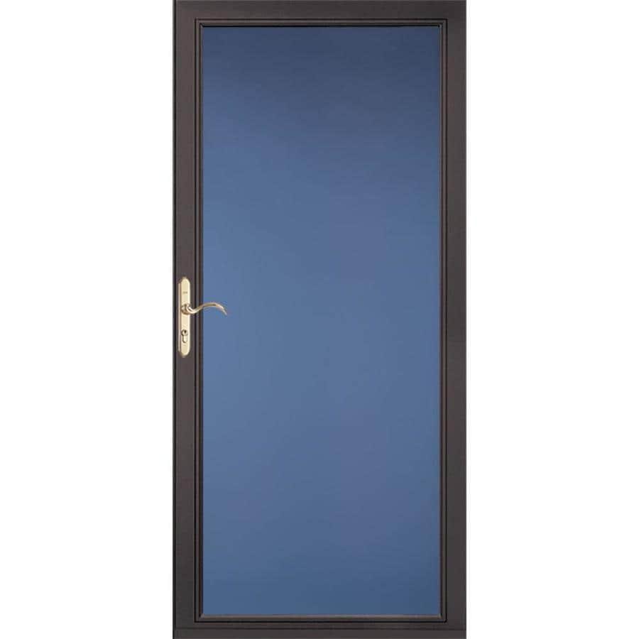 Pella Select Brown Full-View Aluminum Storm Door (Common: 32-in x 81-in; Actual: 31.75-in x 79.875-in)